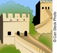 Great Wall Of China clipart The Great Wall Of China Drawing Steps China of Great china wall