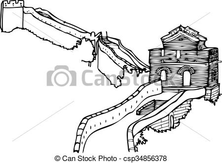 Great Wall Of China clipart The Great Wall Of China Drawing Steps Of Illustration Wall of an