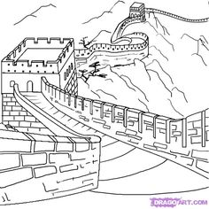 Great Wall Of China clipart The Great Wall Of China Drawing Steps How of to their draw