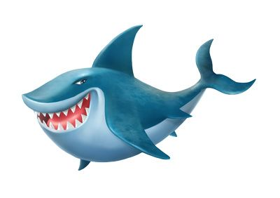 Bull Shark clipart blue shark Cartoon style illustration clipart great