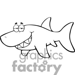 Shark clipart great white shark #13