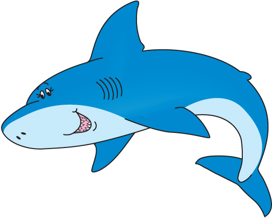 Fins clipart different fish Cartoon Image Shark Great Shark