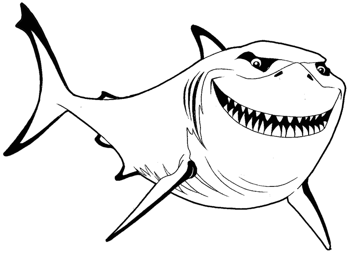 Shark clipart bruce #1