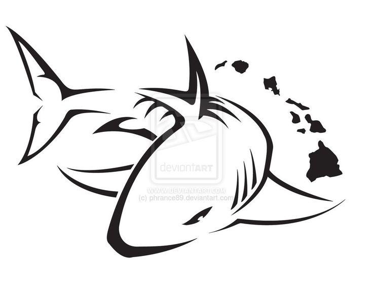 Tiger Shark clipart tribal #2