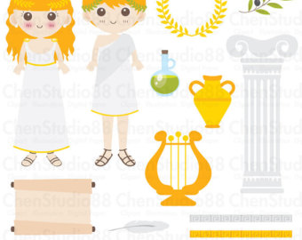 Greece clipart ancient athens Greek Digital PNG and files