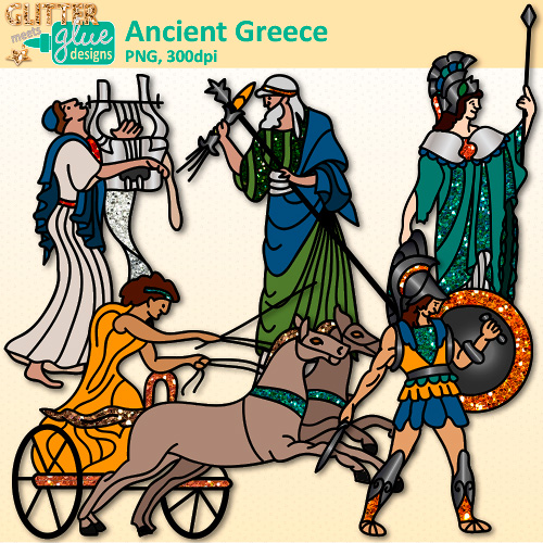 Cart clipart civilization Greece Ancient Glitter Graphics Clip