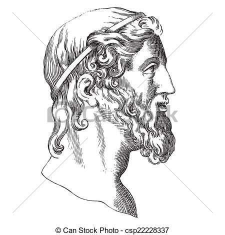 Greece clipart aristotle Ancient Aristotle portrait Aristotle style