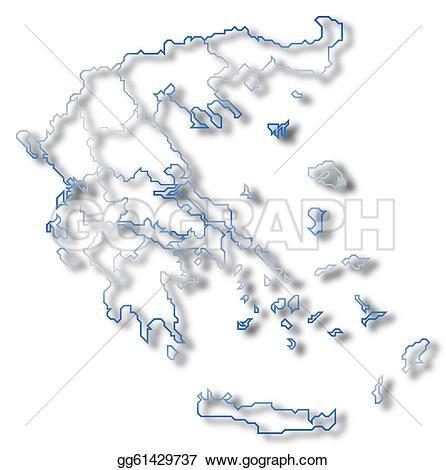 Greece clipart greece map Several Drawing greece gg61429737 greece
