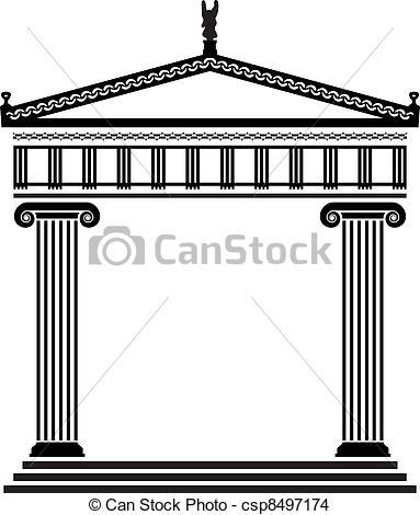 Greece clipart greek architecture Greek vector vector  Vector