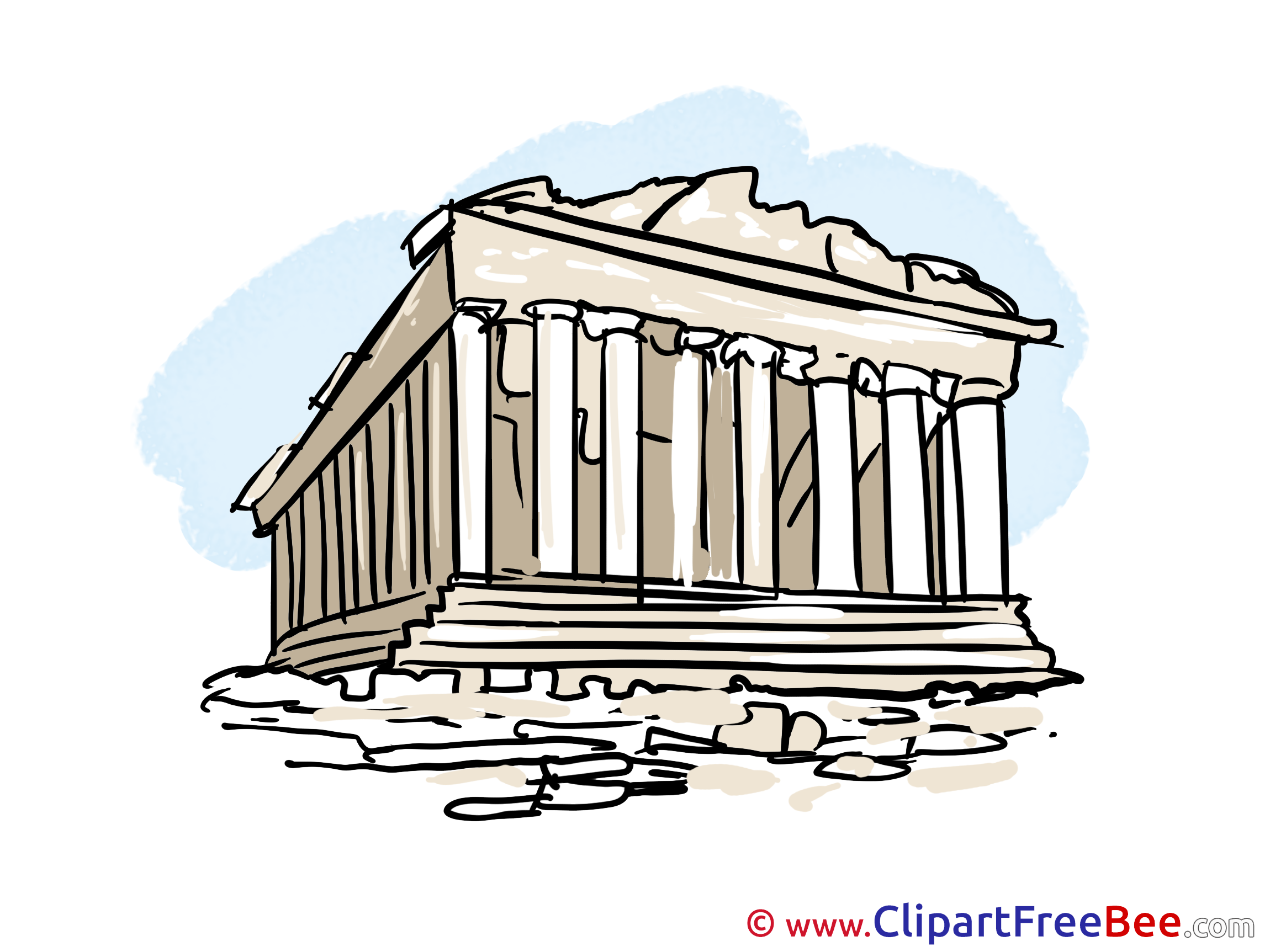 Greece clipart greek architecture Clip Acropolis  for download
