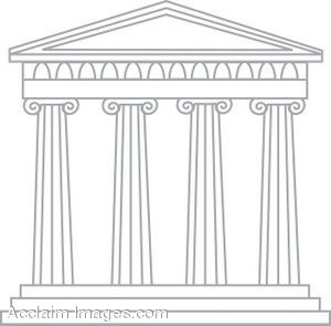 Architecture clipart greek column On greek cartoon images gods