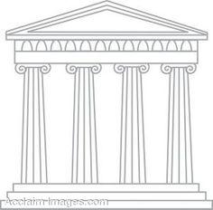 Parthenon clipart greek temple Cartoon Roman/Greek Temple Art