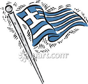 Greece clipart greek flag Free Picture Greece Royalty Free