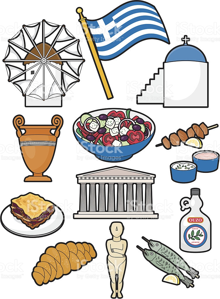 Greece clipart greek food Greece kids ancient Food for