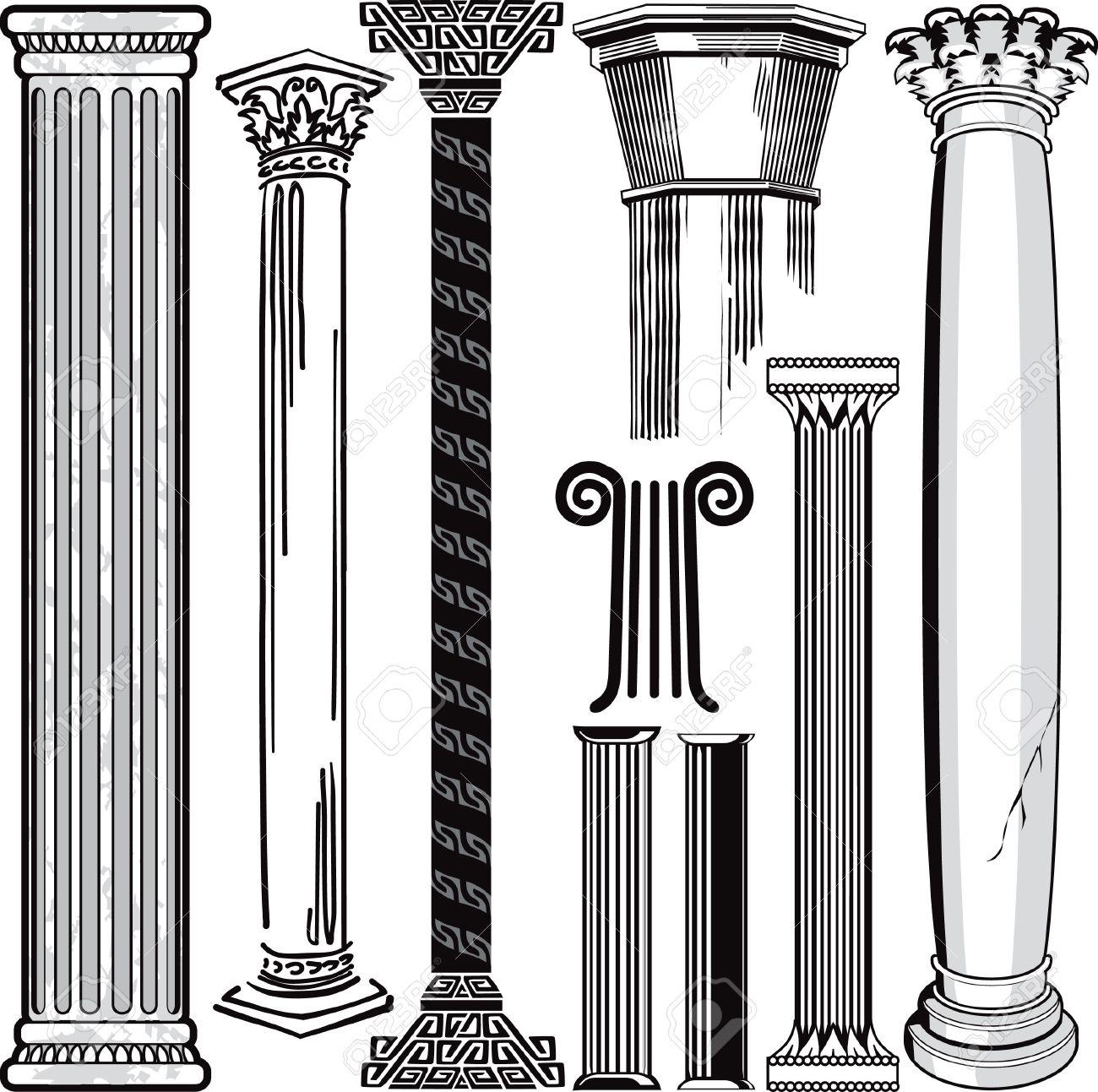 Greece clipart greek pillar Free Column Greek pillars Cliparts