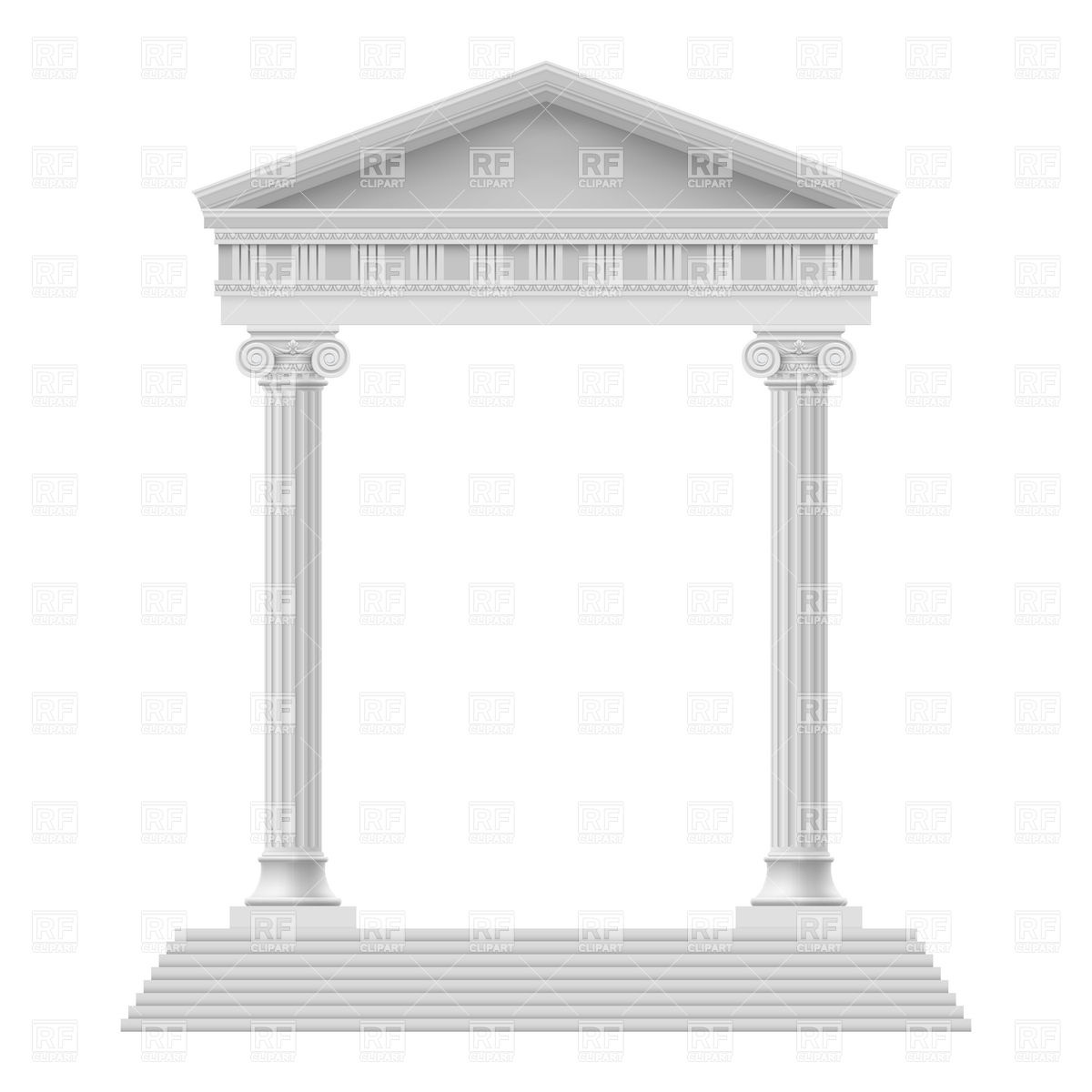 Structure clipart ancient greece building Temple Collection column  of