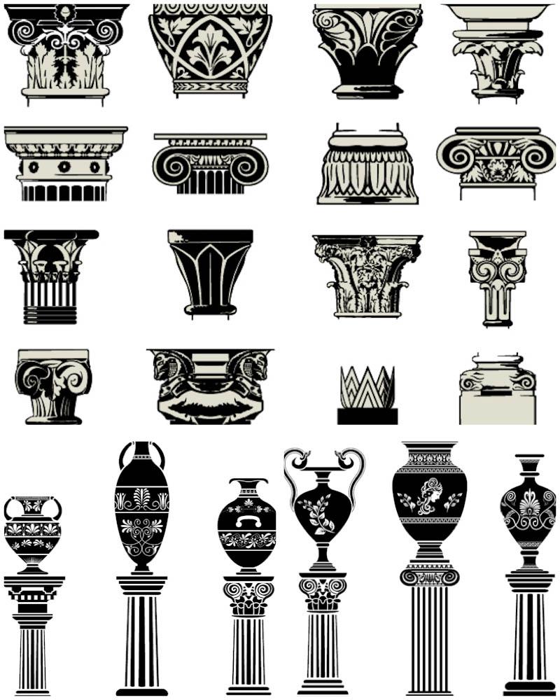 Greece clipart greek pillar 3 Column ancient your with