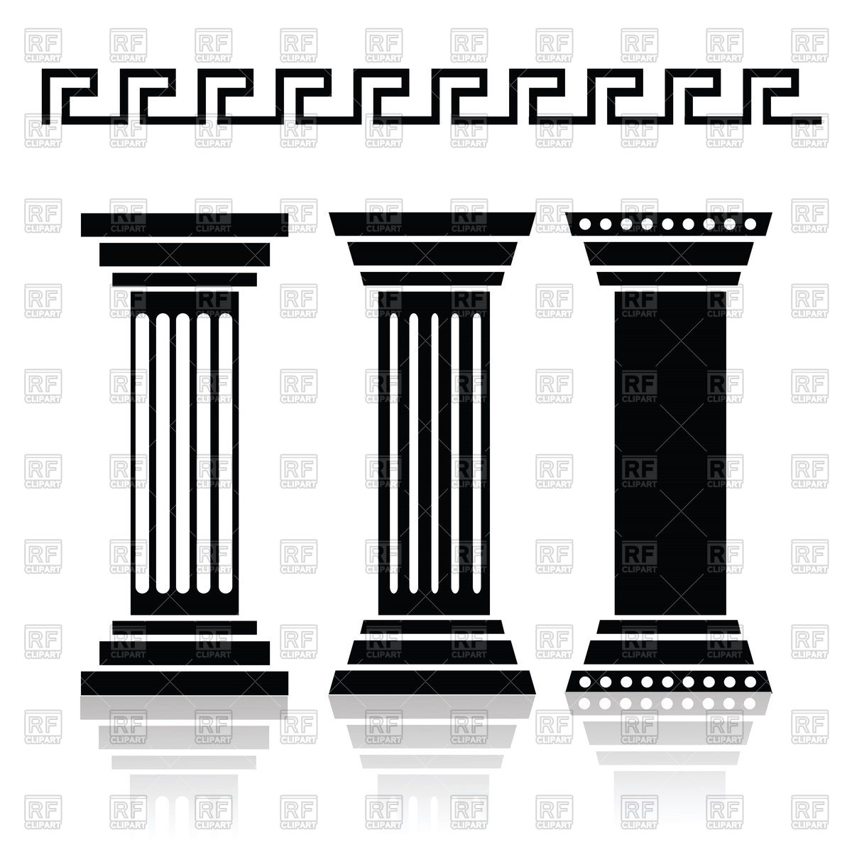 Architecture clipart greek column Silhouette greek of Google vector