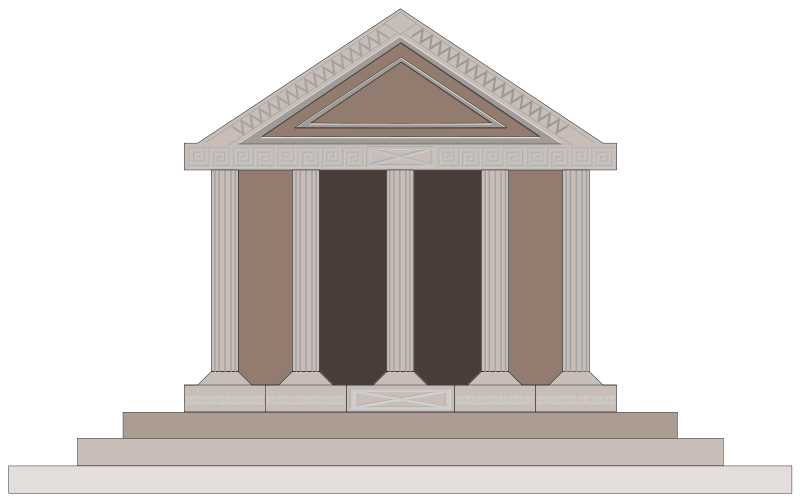 Temple clipart greek art Art Clip Ancient Building Free