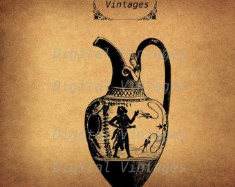 Greece clipart greek vase Vase Download Vintage Clip Etsy
