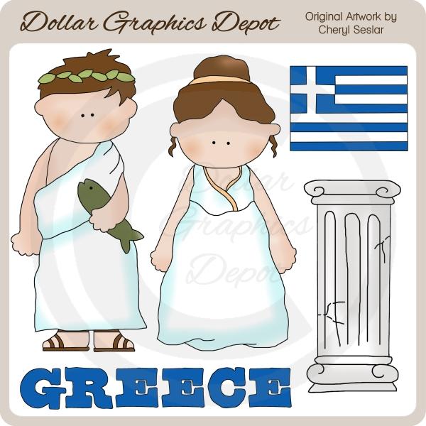 Greece clipart kid Quality Clip Greek Kids Clip