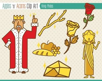 Greece clipart king midas Color Clip Midas King outlines
