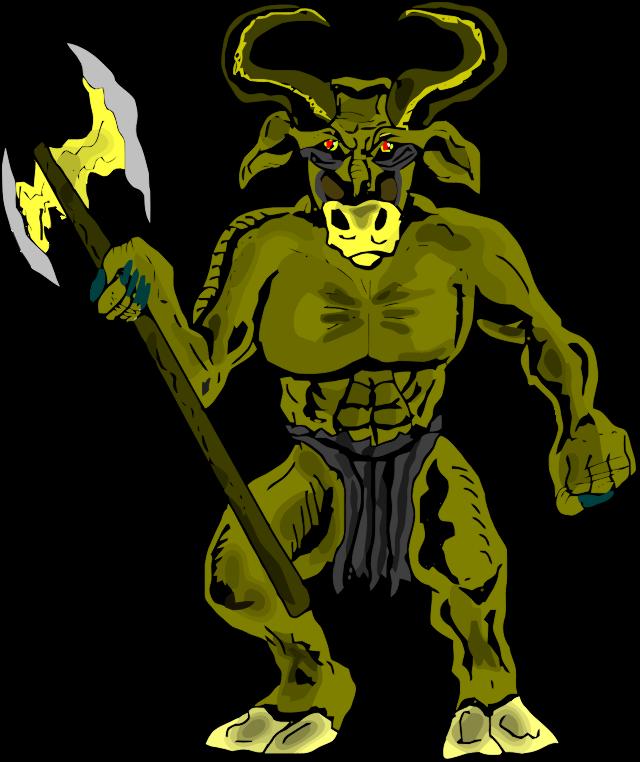 Greece clipart myth legend Minotaur cartoon myth & mythology