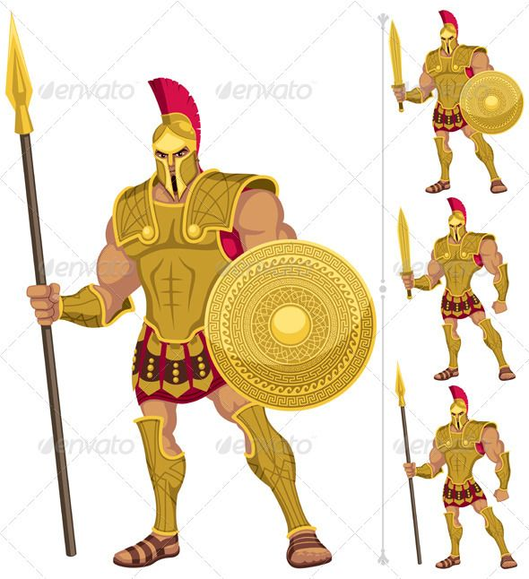 Achilles clipart female warrior Isolated on 3 Ancient Make