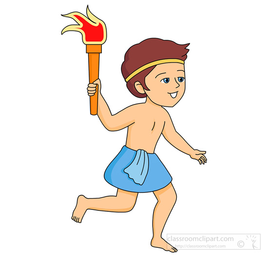 Torch clipart ancient greek Size: Greece Graphics olympics Free