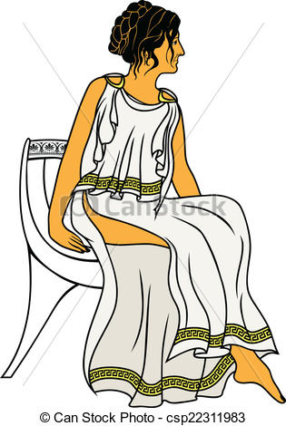 Greece clipart roman woman Woman Ancient EPS  woman