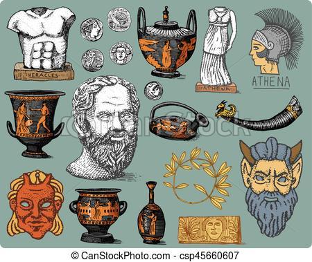 Greece clipart socrates Statue Vector Vector Socrates laurel