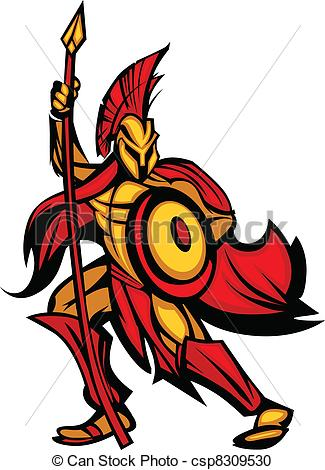Greece clipart sparta Spartan Mascot Spartan with Greek