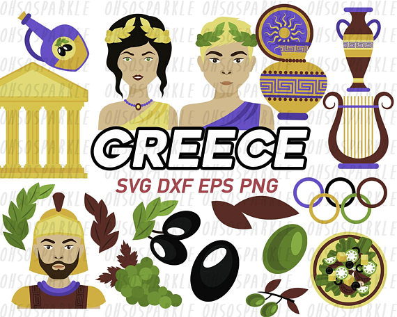 Greece clipart sparta Studio topper svg greek art