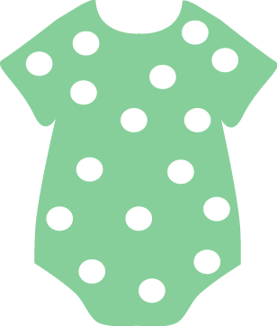 Dots clipart net Green Onesie Baby Polka Clothing