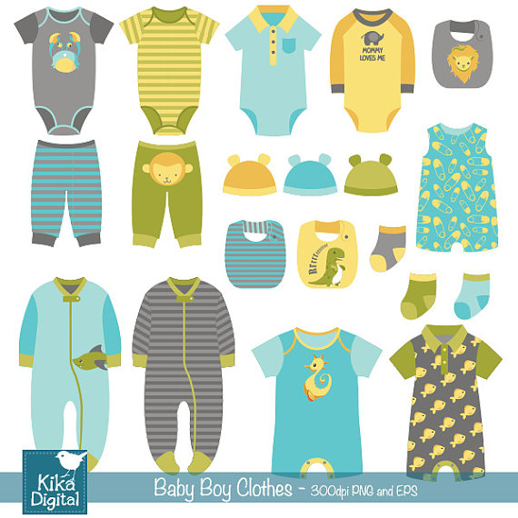 Blue clipart baby clothes Baby boy Baby baby Clothes
