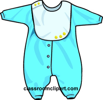 Blue clipart baby clothes Clipart for  Baby Showers