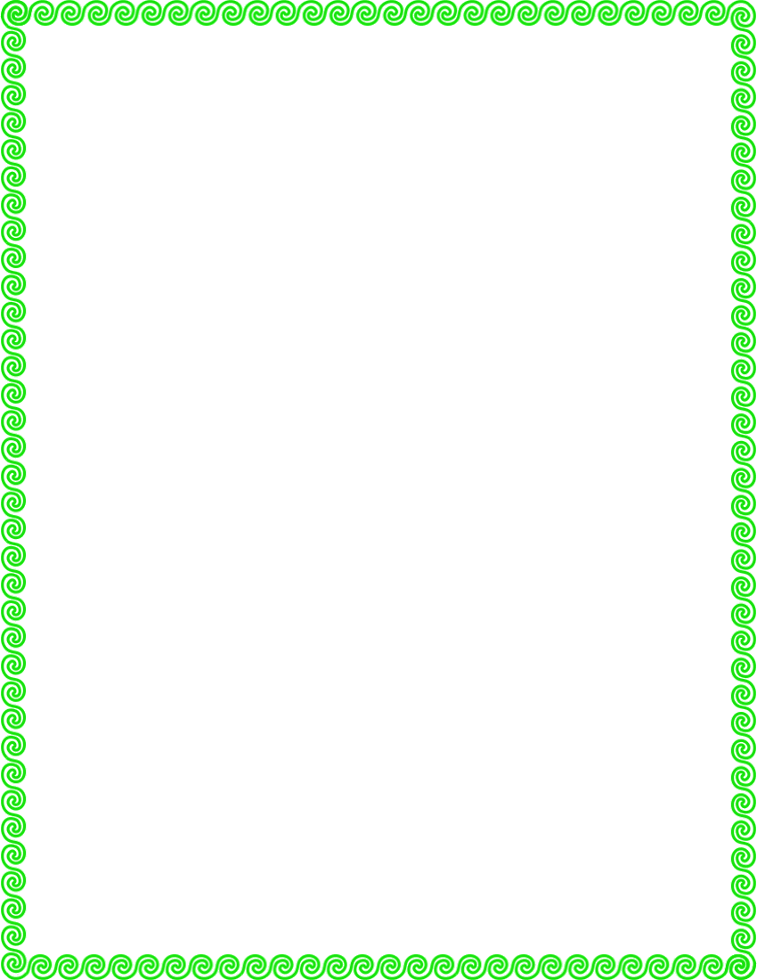 Rope clipart simple color border #10