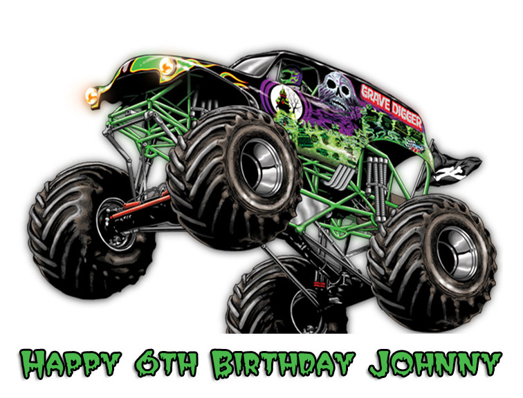 Drawn truck grave digger monster truck Grave WikiClipArt truck clipart digger
