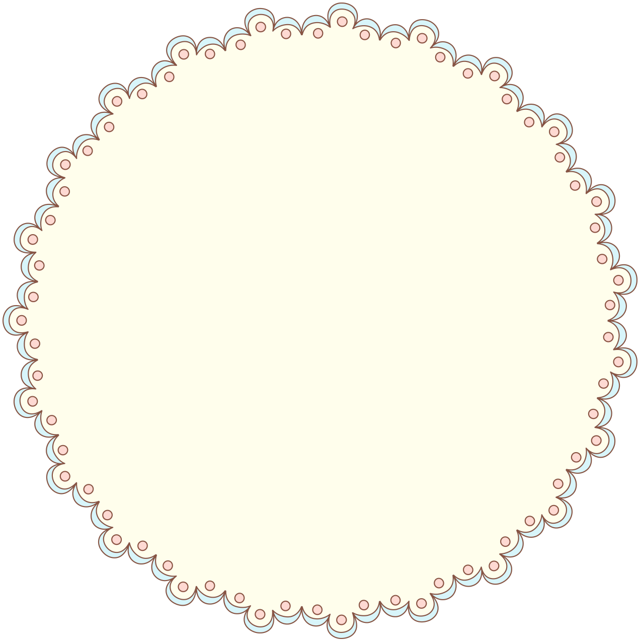Simple clipart doily Designer French  Pattern Free