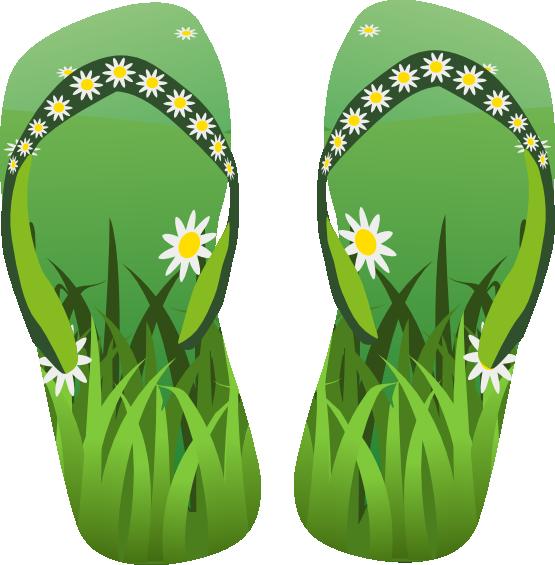 Pair clipart flip flops Art flip flops green flops