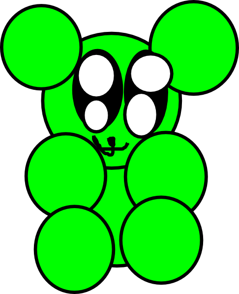 Blue clipart gummy bear Green Gummy art Art clip