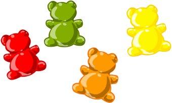 Red clipart gummy bear Bears Gummi  art clip