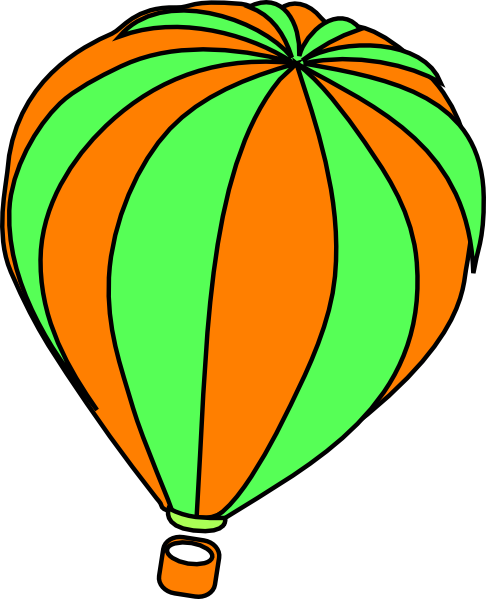 Orange clipart hot air balloon Art Clip Panda Basket Clipart