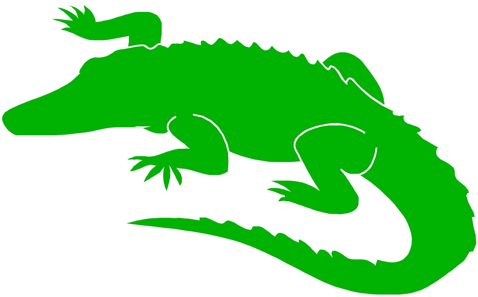 Alligator clipart silhouette Alligator white alligator clipart collection