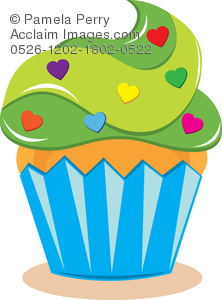 Muffin clipart green cupcake Frosting of a Sprinkles Illustration