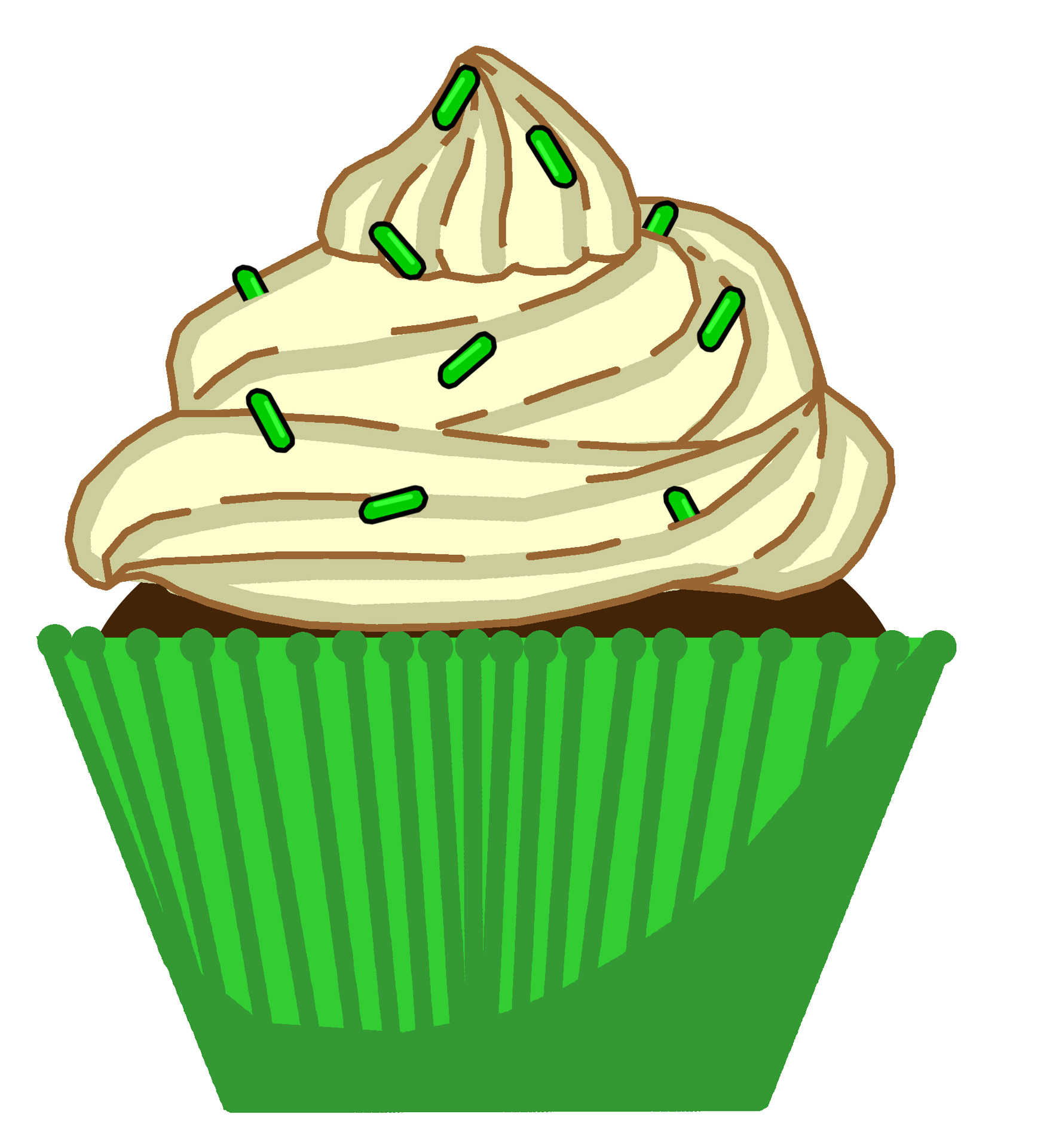 Muffin clipart green cupcake Cupcake Free Public Pictures Green