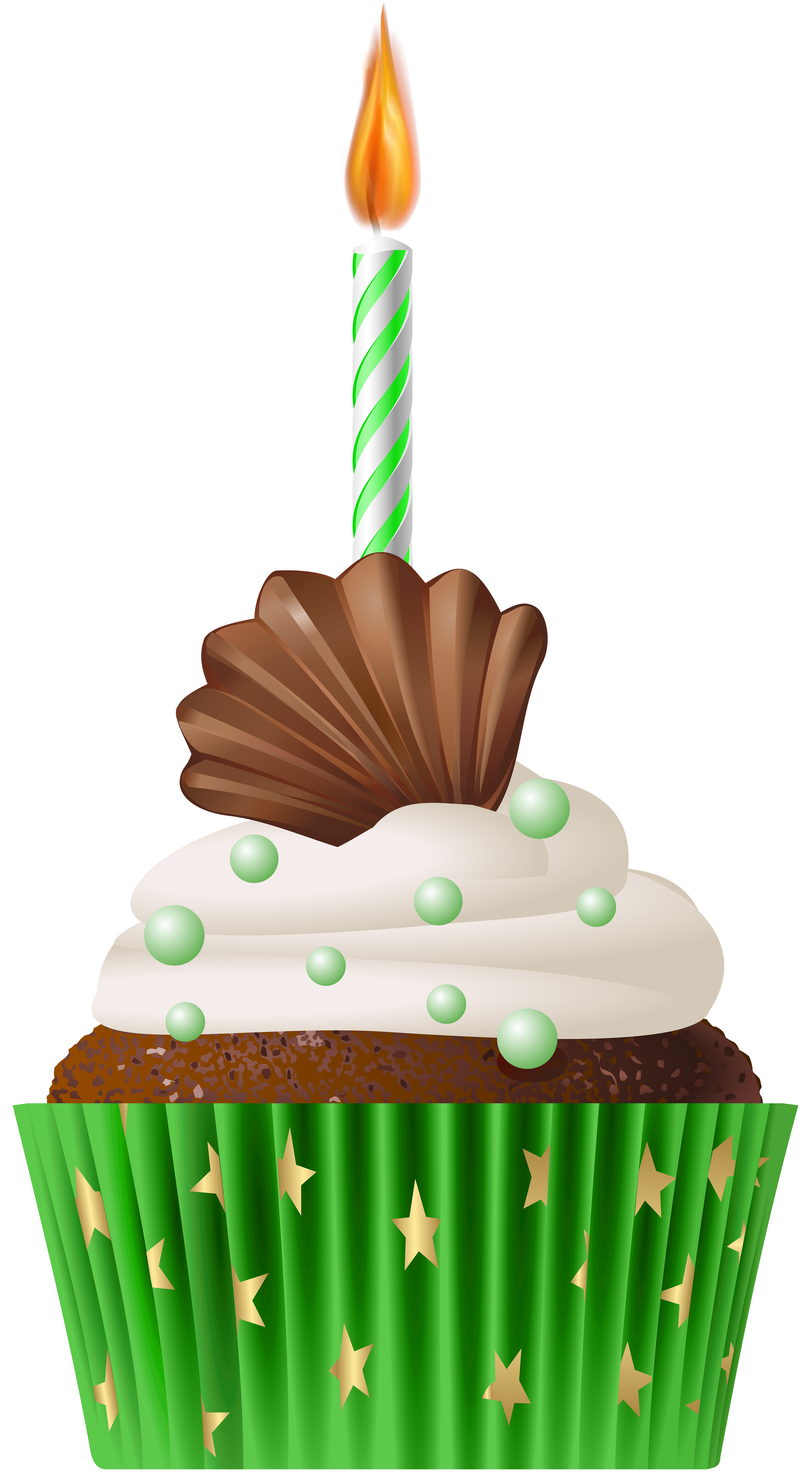 Muffin clipart green cupcake  size with Clip Gallery