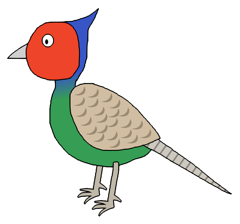 Pheasant clipart green Japanese ) on Pheasant k45mm