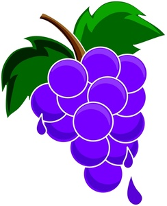 Grape clipart cute Clipart with landscape Green Vector