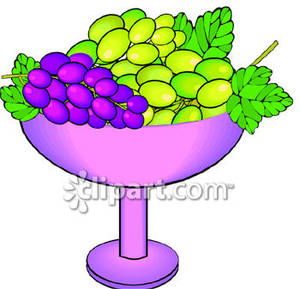 Grape clipart frut Clipart Of Grapes  Bowl